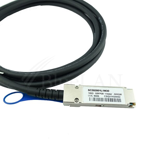BlueLAN Direct Attach Kabel 100GBASE-CR4 QSFP28 1 Meter
