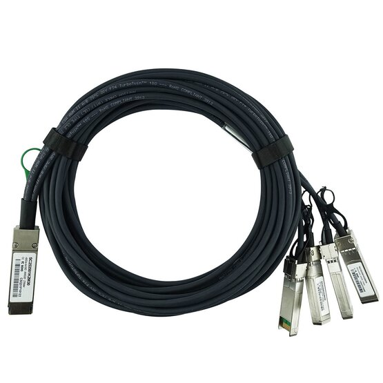 40Gb//s QSFP HPE JG331A Compatible to 4SFP DAC Breakout Cable Twinax Passive 5m
