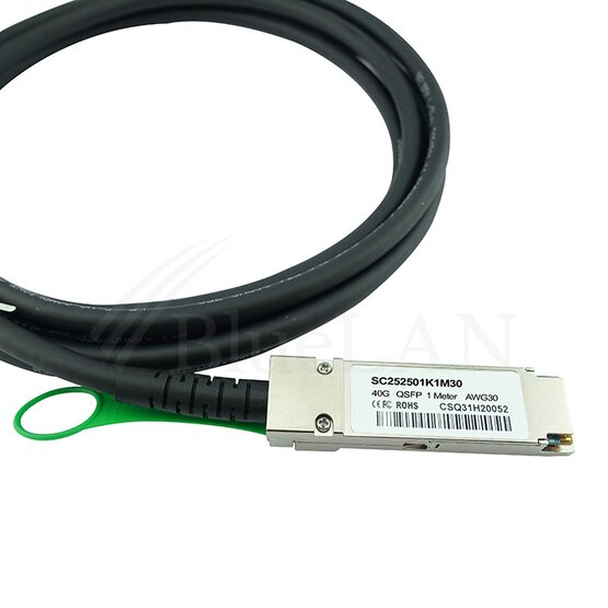 BlueLAN QSFP Direct Attach Kabel 40GBASE-CR4 1 Meter